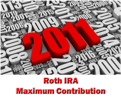 2011 Roth IRA Maximum Contribution