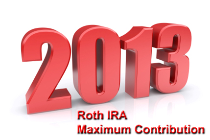 2013 Roth IRA maximum contribution