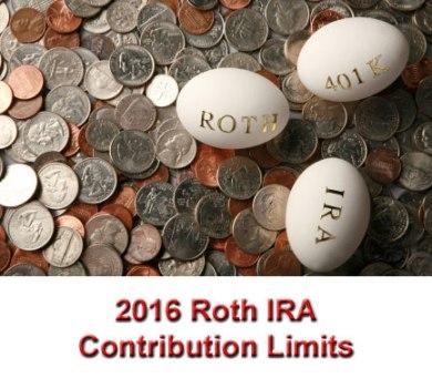 2016 Roth IRA contribution limits