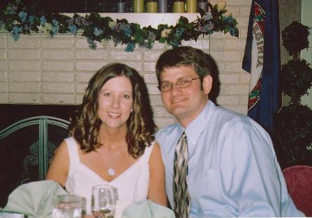 Our rehearsal dinner, June 2006