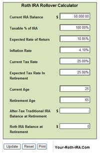 Retirement Calculator: Retirement Calculator Ira Roth
