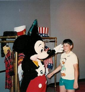 Britt with Mickey Mouse