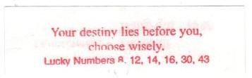 Your destiny lies before you, choose wisely