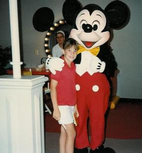 Jen with Mickey Mouse